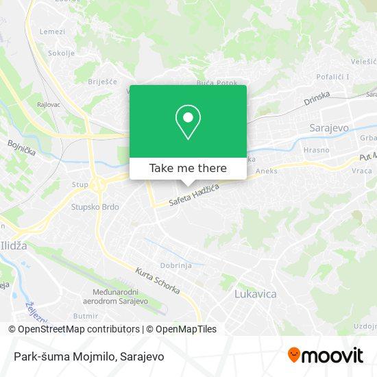Park-šuma Mojmilo map