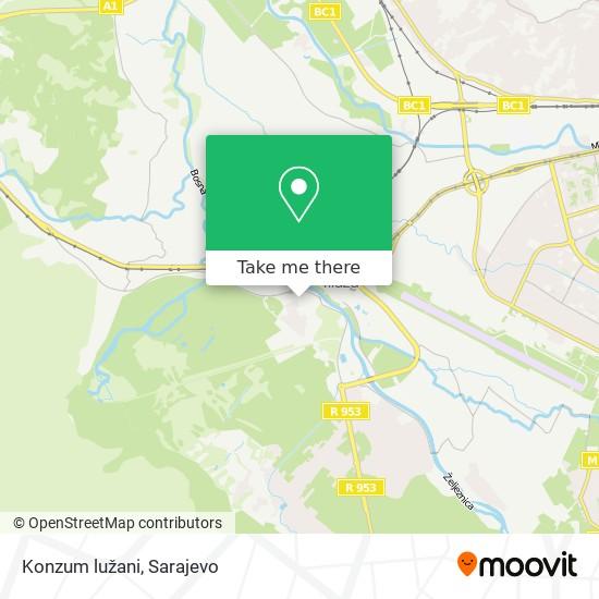 Konzum lužani map