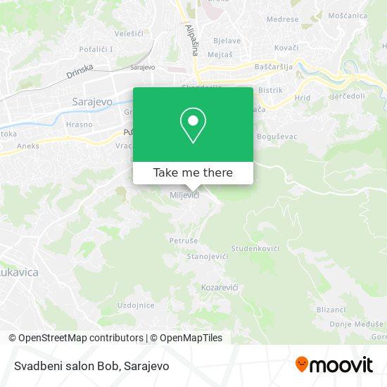 Svadbeni salon Bob map
