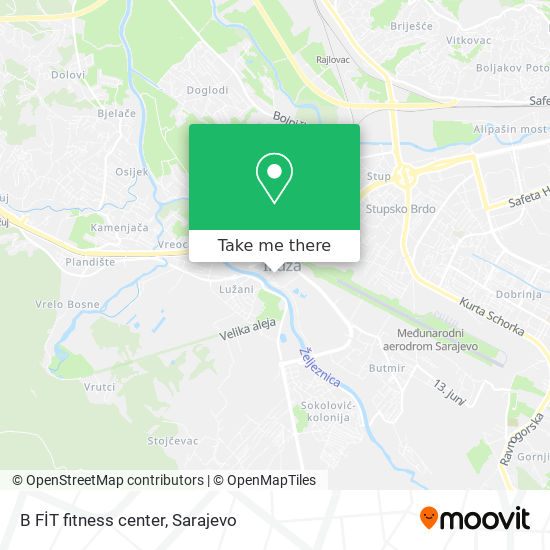 B FİT fitness center map