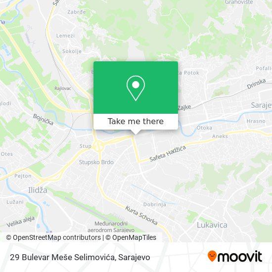 29 Bulevar Meše Selimovića map