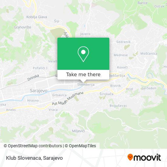 Klub Slovenaca map