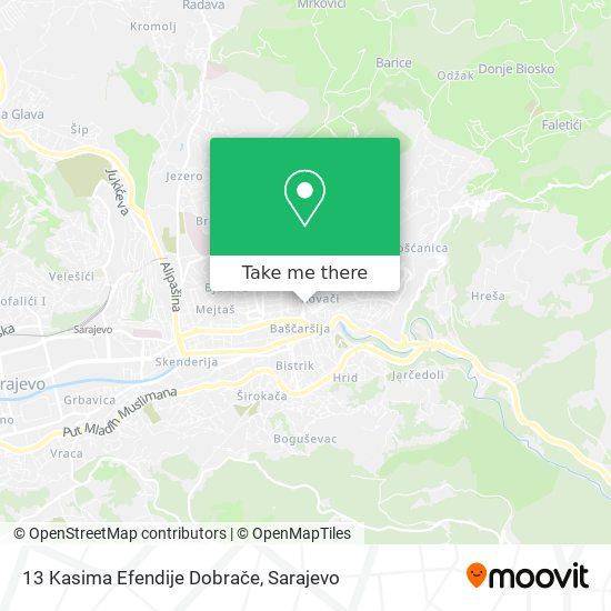 13 Kasima Efendije Dobrače map