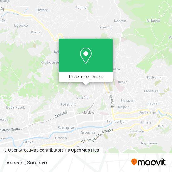 Velešići map