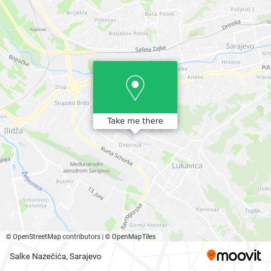 Salke Nazečića map
