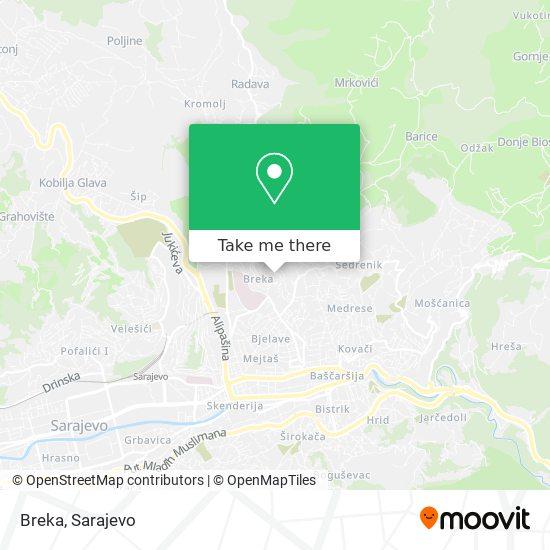 Breka map