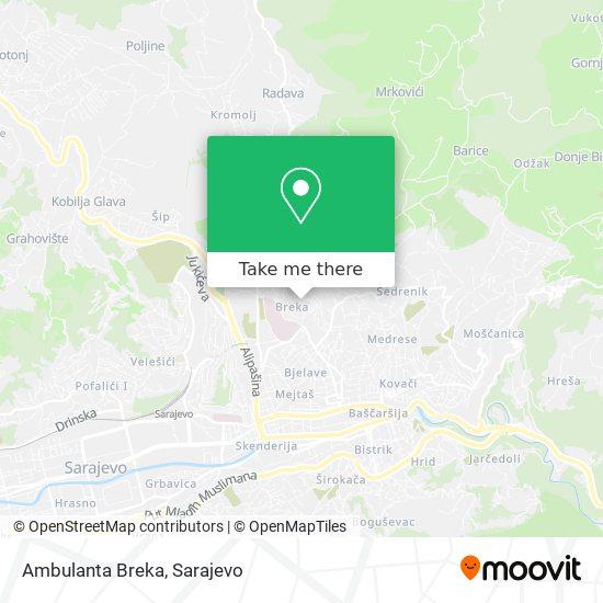 Ambulanta Breka map