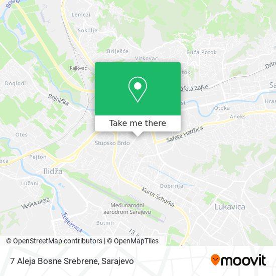 7 Aleja Bosne Srebrene map