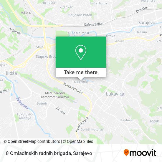 8 Omladinskih radnih brigada map
