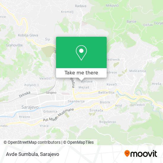 Avde Sumbula map