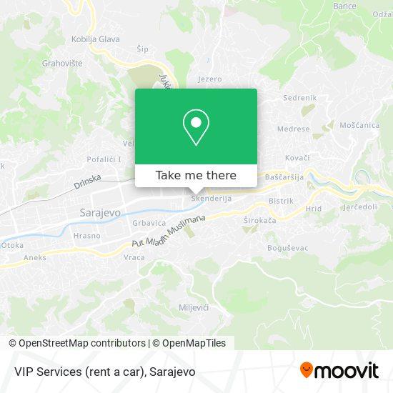 VIP Services (rent a car) map
