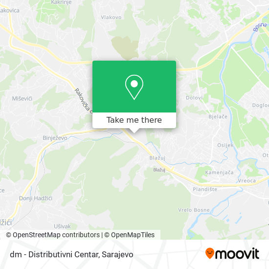 dm - Distributivni Centar map
