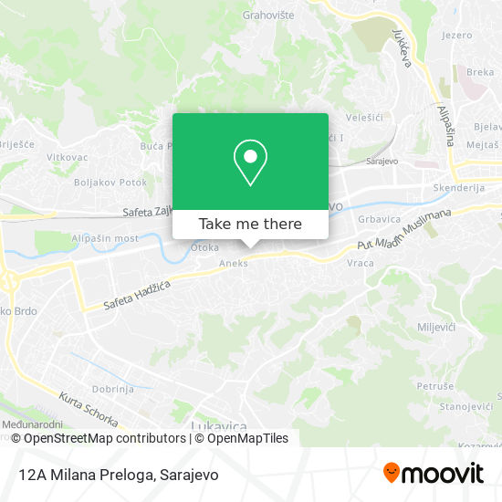 12A Milana Preloga map