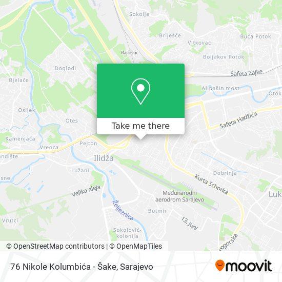 76 Nikole Kolumbića - Šake map