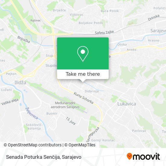 Senada Poturka Senčija map