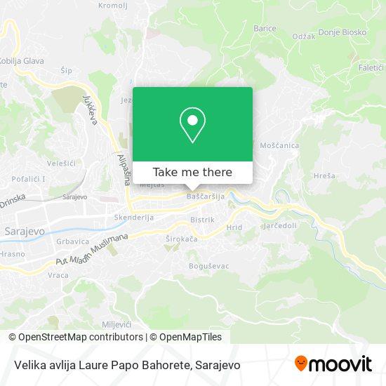 Velika avlija Laure Papo Bahorete map