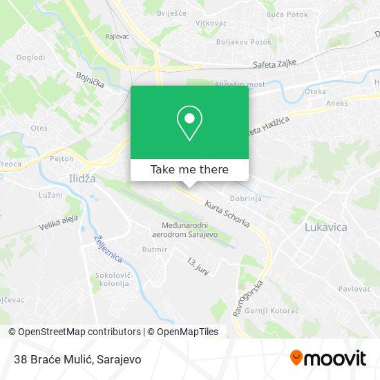 38 Braće Mulić map