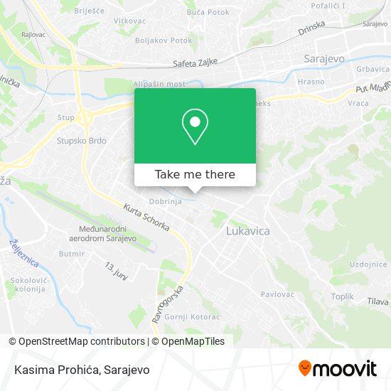 Kasima Prohića map