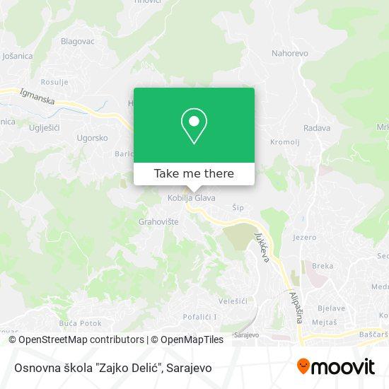 """Osnovna škola """"Zajko Delić"""" map"""