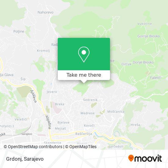 Grdonj map