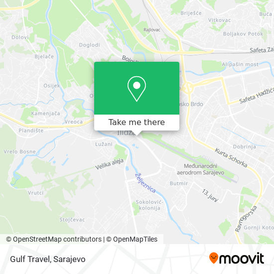 Gulf Travel map