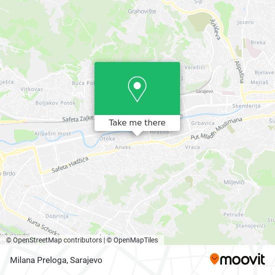 Milana Preloga map