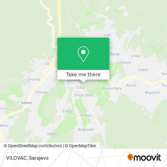 VILOVAC map