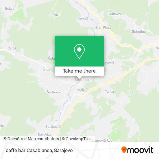 caffe bar Casablanca map