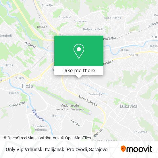 Only Vip Vrhunski Italijanski Proizvodi map