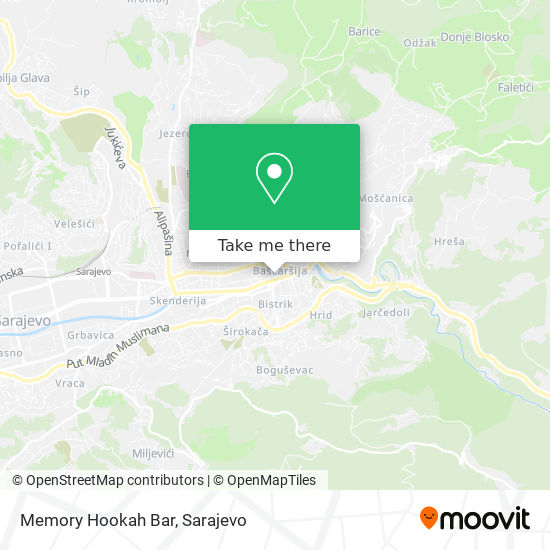 Memory Hookah Bar map
