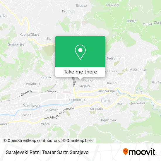 Sarajevski Ratni Teatar Sartr map
