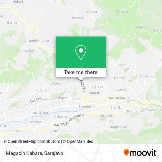 Magacin Kabare map