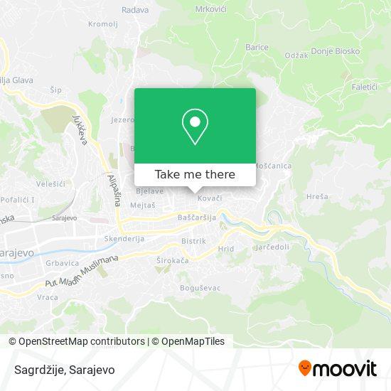 Sagrdžije map