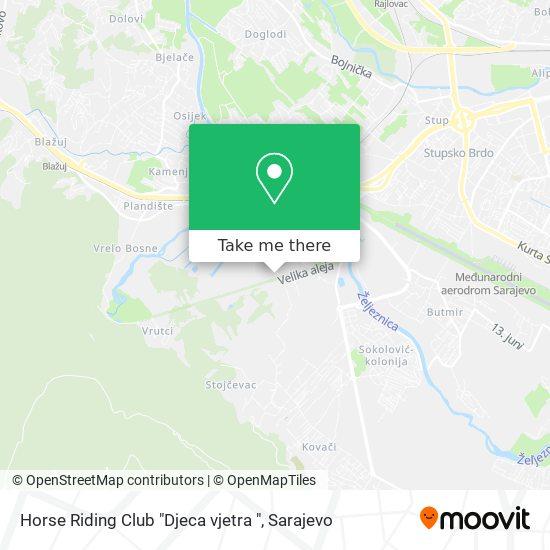 "Horse Riding Club ""Djeca vjetra "" map"