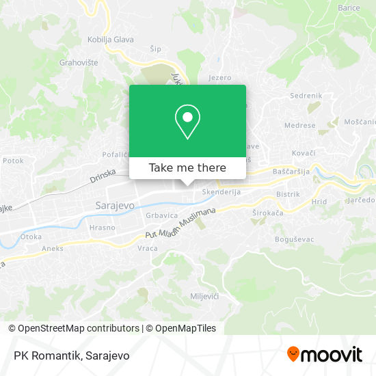 PK Romantik map