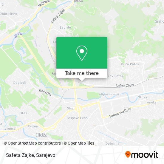 Safeta Zajke map