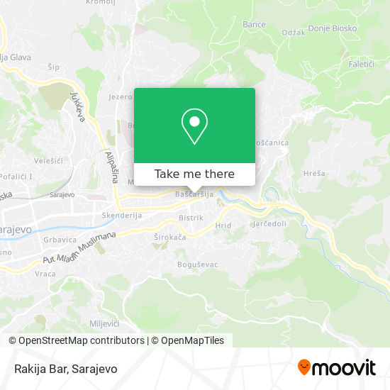Rakija Bar map