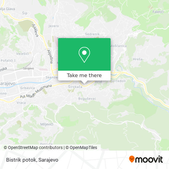 Bistrik potok map