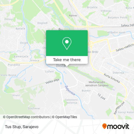 Tus Stup map