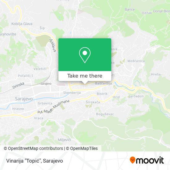 """Vinarija """"Topić"""" map"""