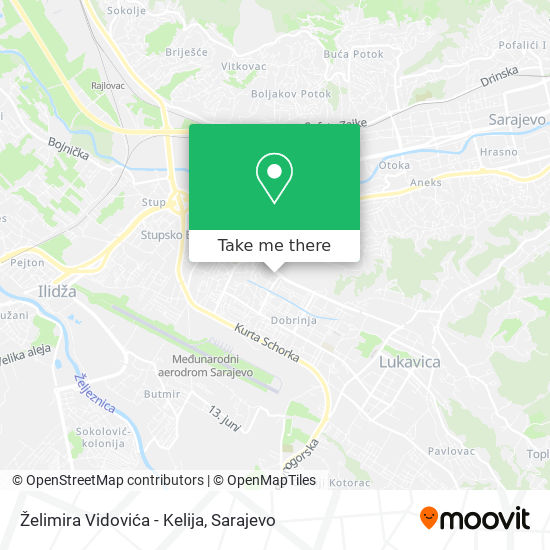 Želimira Vidovića - Kelija map