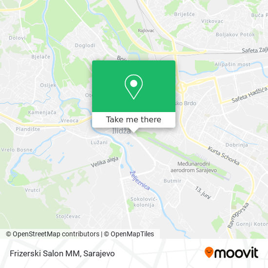 Frizerski Salon MM map