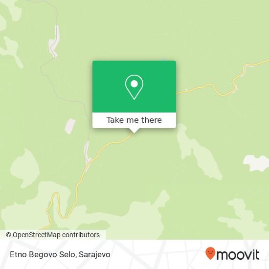 Etno Begovo Selo map