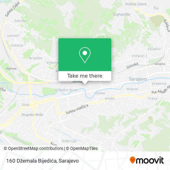 160 Džemala Bijedića map