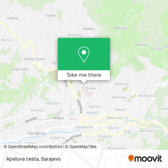 Apelova cesta map