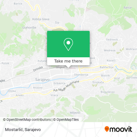 Mostarlić map