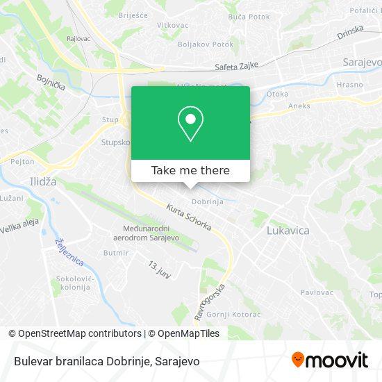 Bulevar branilaca Dobrinje map