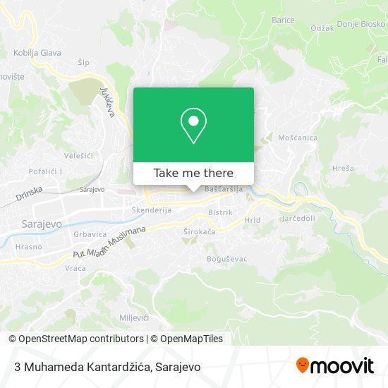 3 Muhameda Kantardžića map