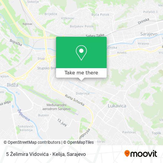 5 Želimira Vidovića - Kelija map