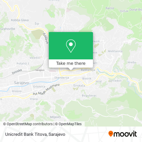Unicredit Bank Titova map